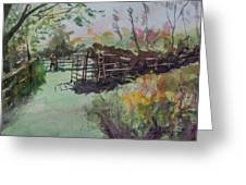 Morning On The Sheep Farm Greeting Card