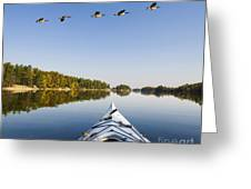 Morning On The Tranquil Lake Greeting Card