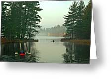 Morning Paddle Greeting Card by RJ Martens