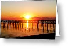 Morning Pier Greeting Card