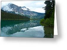 Morning Reflection In Emerald Lake In Yoho National Park-british Columbia-canada Greeting Card