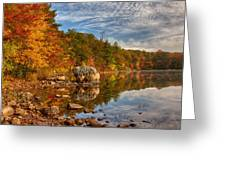 Morning Reflection Of Fall Colors Greeting Card