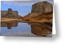 Morning Reflections In Monument Valley Greeting Card