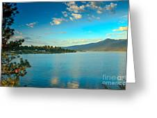 Morning Reflections On Lake Cascade Greeting Card