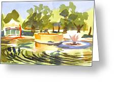 Morning Ripples At Ste. Marie Du Lac Pond Greeting Card
