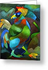 Morning Rooster Greeting Card