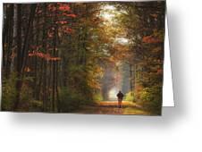 Morning Run Greeting Card