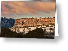 Morning Sun On The Ridge Greeting Card
