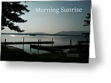 Morning Sunrise By Angela Greeting Card