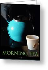 Morning Tea Two Greeting Card