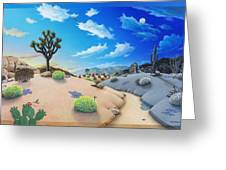 Joshua Tree Morning To Night Greeting Card