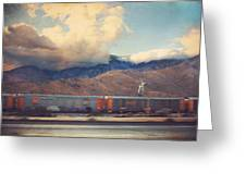 Morning Train Greeting Card by Laurie Search