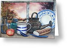 Morning Wheat Greeting Card by Kimberly Blaylock