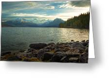 Mornings At Lake Mcdonald Greeting Card by Stuart Deacon