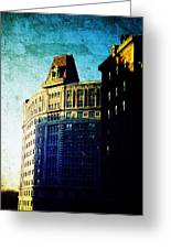 Morningside Heights Blue Greeting Card