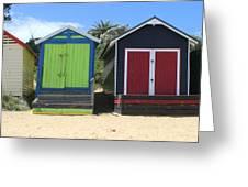 Mornington Beachboxes Greeting Card by Rachael Curry