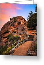 Moro Rock Path Greeting Card