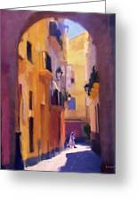 Moroccan Light Greeting Card by Bob Galka