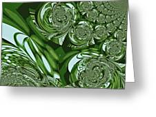 Moroccan Lights - Green Greeting Card