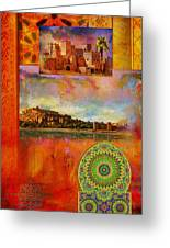 Morocco Heritage Poster Greeting Card