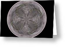 Morphed Art Globe 26 Greeting Card