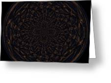 Morphed Art Globe 31 Greeting Card by Rhonda Barrett