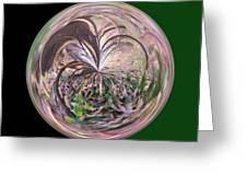 Morphed Art Globe 36 Greeting Card by Rhonda Barrett