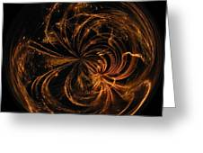 Morphed Art Globe 40 Greeting Card
