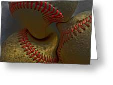 Morphing Baseballs Greeting Card by Bill Owen