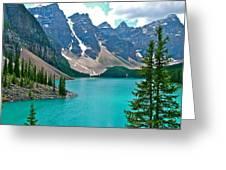 Morraine Lake In Banff Np-alberta Greeting Card