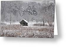 Morris Arboretum Mill In Winter Greeting Card