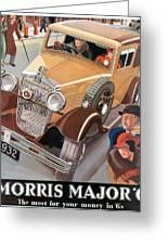 Morris Major 6 - Vintage Car Poster Greeting Card
