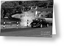 Morris Minor And The Wave Greeting Card