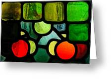 Morris Stained Glass Greeting Card