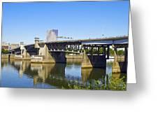 Morrison Bridge Portland Oregon Greeting Card