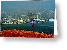 Morro Bay At A Distance Greeting Card