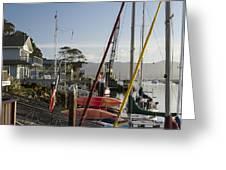 Morro Bay Embarcadero Greeting Card