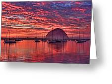 Morro Bay On Fire Greeting Card