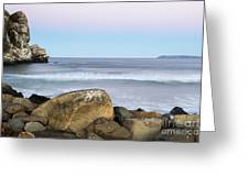 Morro Rock Morning Greeting Card