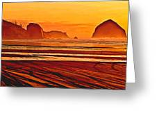 Morro Rock Painting Greeting Card