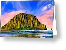 Morro Rock Sunset Greeting Card