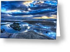 Morro Strand Reflections Greeting Card