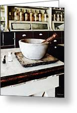 Mortar And Pestle In Apothecary Greeting Card