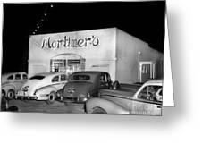 Mortimers Dining  Dancing Marina California  Circa 1948 Greeting Card