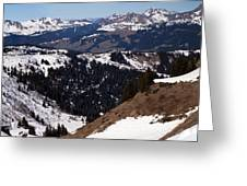 Morzine And Les Gets Panorama Greeting Card