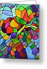 Mosaic Bouquet Greeting Card