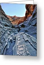 Mosaic Canyon In Death Valley Greeting Card