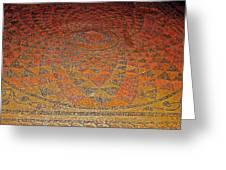 Mosaic Floor In Bergama Museum-turkey Greeting Card