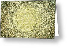Mosaic Galaxy In Gold Greeting Card