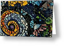 Mosaic Pattern On Wall Greeting Card
